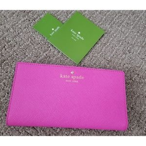 NWT Kate Spade Mikas Pond Stacy Pink Wallet